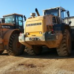 L5 Magna Tyres running in open pit dolomite mine in Poland