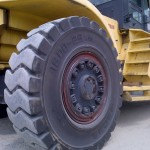 Magna Super Solid (16.00-25) mounted on large forklift in the Netherlands
