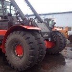 Linde container handler in Estonia mounted with Magna MB01 (18.00-25)