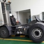 A container handling company is testing Magna MSL truck tyres in South Korea