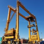 MB01 tyres for RTG crane at South Korean container terminal