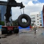 First batch Magna MA04+ giant tyres being shipped to Asian mining contractor