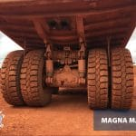 27.00R49 Magna MA04+giant tyres selected for Bauxite mine in Guinea
