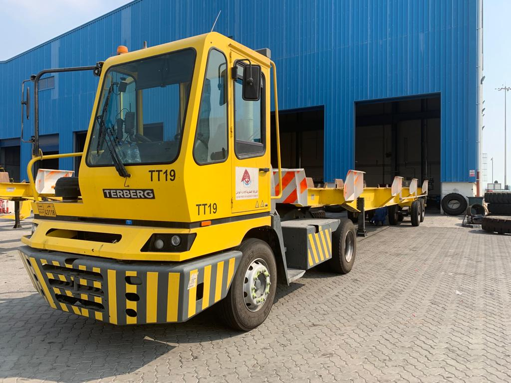 A modern and important terminal in the Middle East starts using Magna M-Terminal for their terminal tractors and trailers
